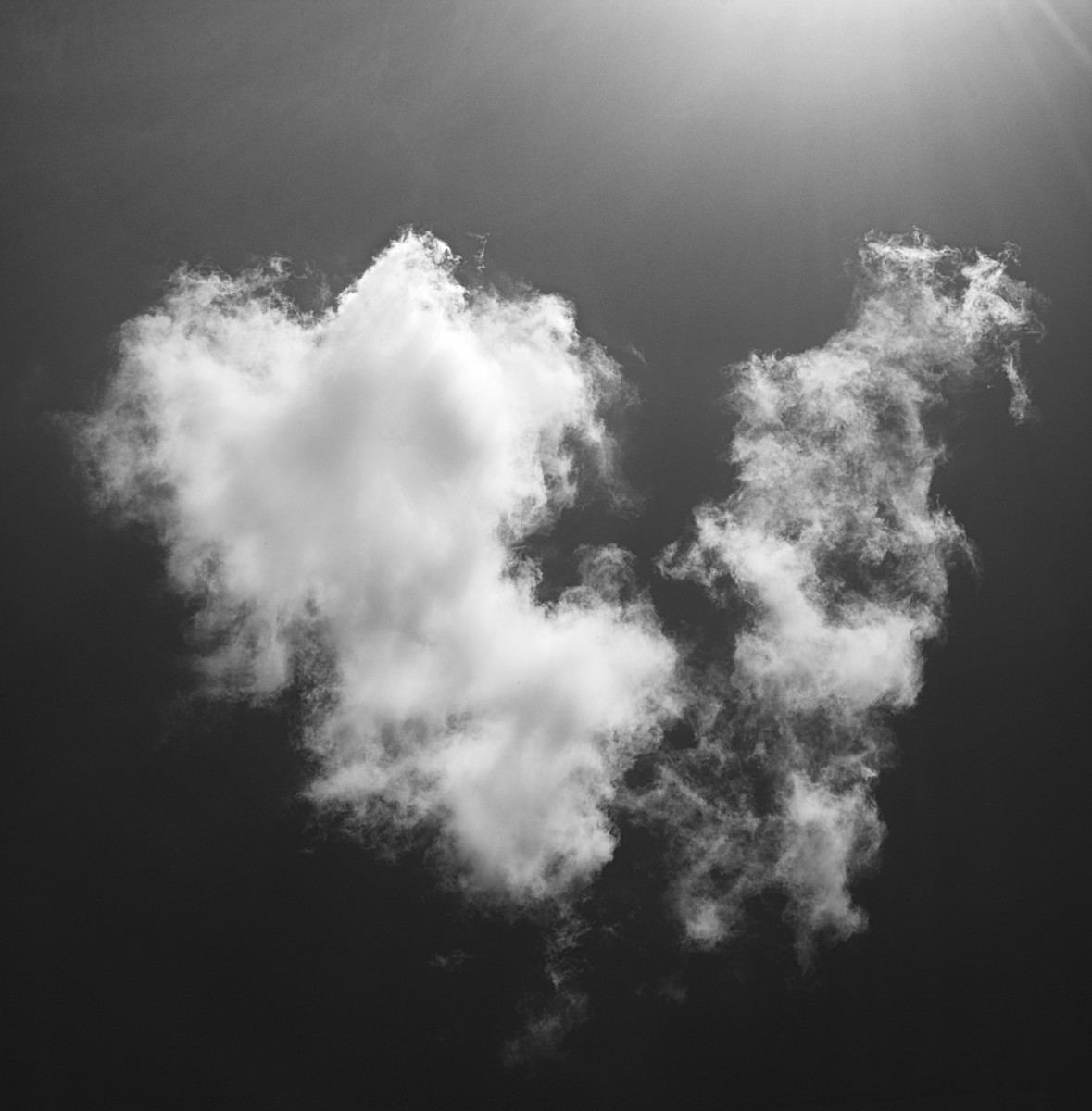 Cloud in Black and White