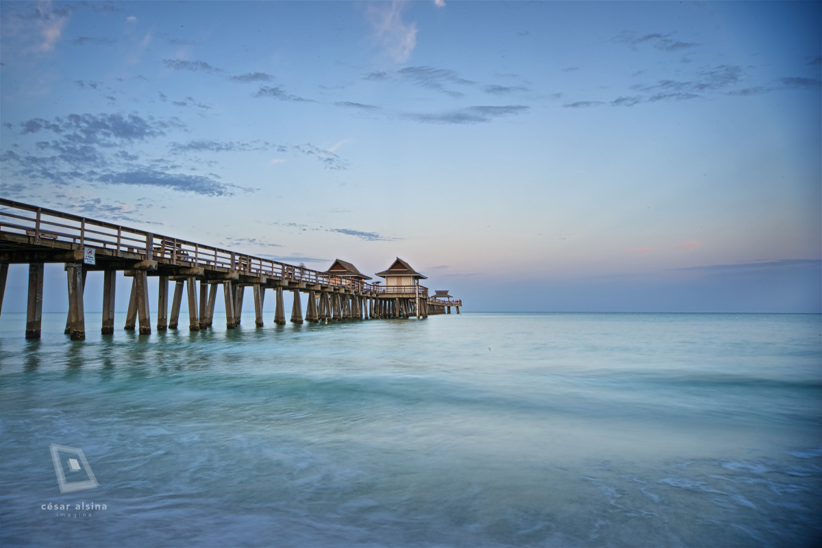 Naples Pier After Moonset